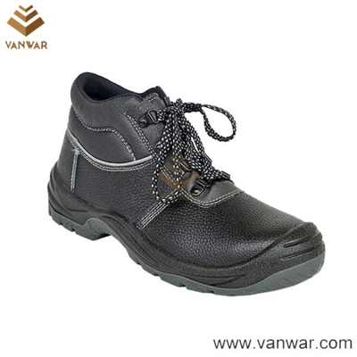 Electric Insulation Cow Leather Military Working Safety Boots with Anti-Slip Outsole (WWB039)