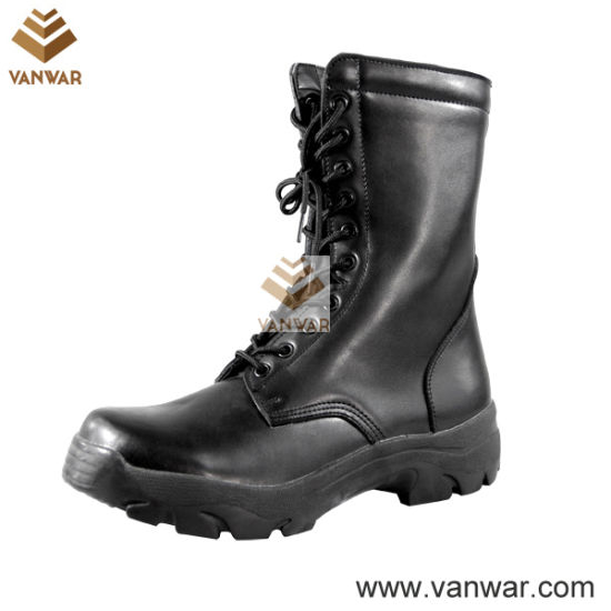Top Layer Leather Military Combat Boots with Round Toe Cap (WCB027)