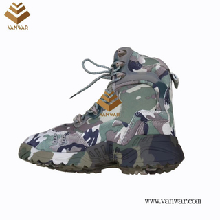 Camouflage Military Combat Boots with High Quality (WCB060)