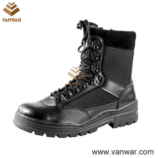 Steel Toe Cap OEM Leather Military Tactical Boots of Black (WTB007)