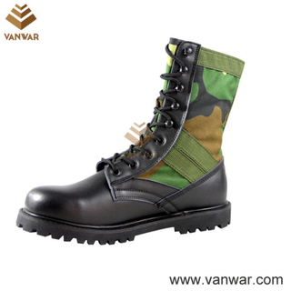 Combat Camo Fabric Military Camouflage Boots (CMB010)