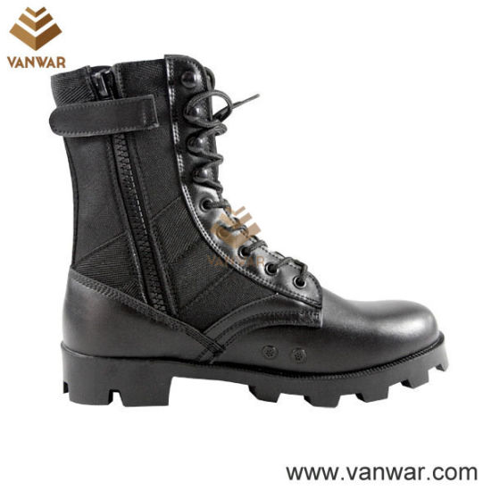 Ligheweight Polyurethane Panama Military Jungle Boots with Zippers (WJB005)