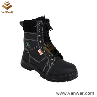Top Layer Leather Military Working Safety Boots (WWB042)