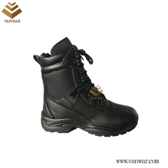 Black Military Combat Boots with High Quality (WCB055)