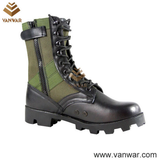 Nylon Waterproof Military Camouflage Jungle Boots with Panama Outsole (WJB001)