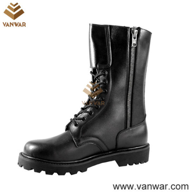 Full Leather Black Military Tactical Boots for Soliders (WTB010)