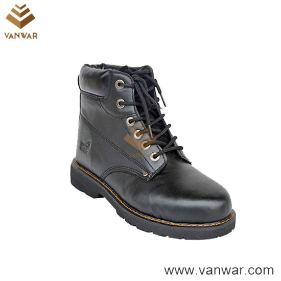 Steel Plate Leather Military Working Boots of Mesh Lining (WWB066)