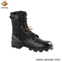 Anti-Slip Vietnam Military Jungle Boots of Black Color (WJB004)