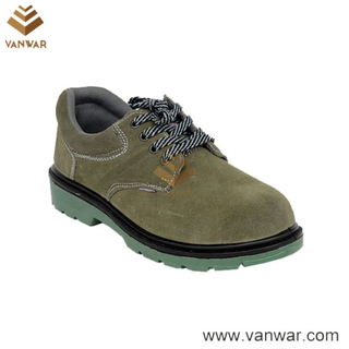 Comfortable Cow Leather Working Safety Shoes with Slip-Resistant Outsole (WSS002)