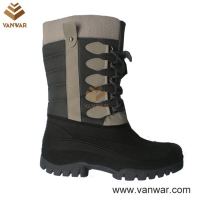 Stiched Snow Boots with Waterproof Outsole (WSB026)