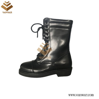 Full Leather Black Military Combat Boots with High Quality (WCB053)