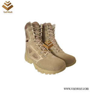 Tan Desert Suede Military Desert Boots with high quality(WDB064)