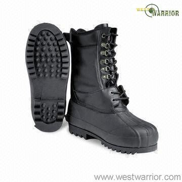 Black Waterproof Military Working Boots (WWB027)