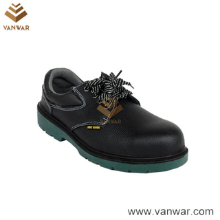 Ce Certificated Black Leather Working Safety Shoes (WSS009)