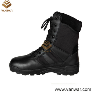 Competitive Black Leather Military Army Boots(WCB091)