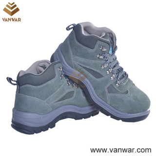 Suede Leather Military Working Safety Boots with Dual PU Injection (WWB054)