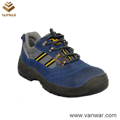 High Quality Blue Working Safety Shoes with Steel Platewss006