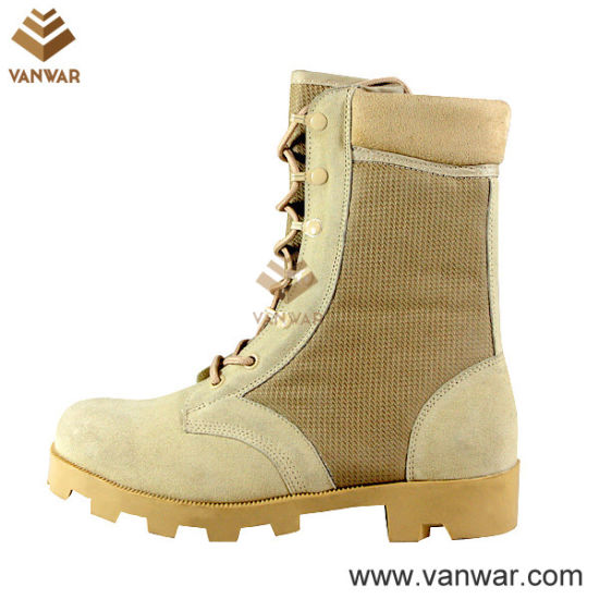 Suede Cow Leather Military Desert Boots with Padded Collar (WDB005)