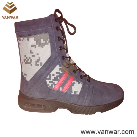 Cheap Price Suede Leather Military Camouflage Boots (CMB025)