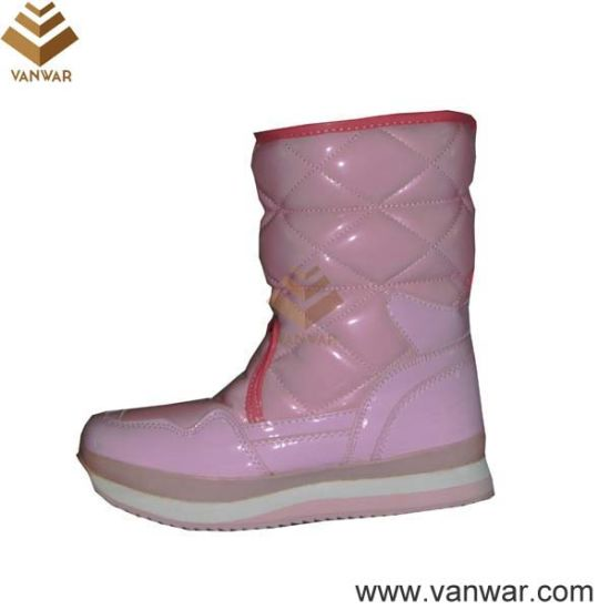 Bright Color Cemented Women Snow Boots with Magic Tape (WSCB018)