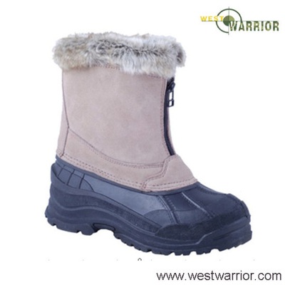 Wool Collar Military Stiched Snow Boots (WSB015)