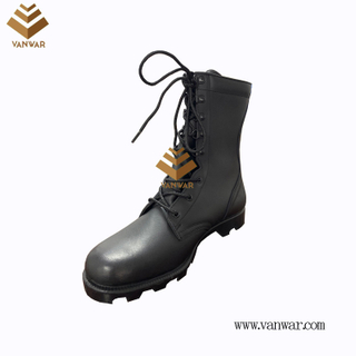 Military Combat Boots of Black with High Quality (WCB068)