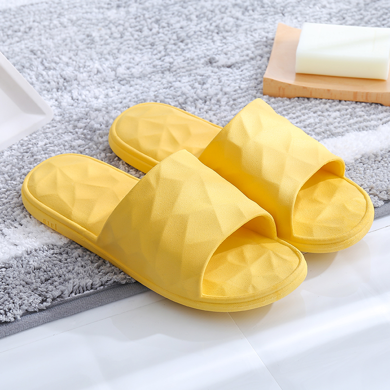 Integrated yellow indoor slippers of high quality for men/women (wsp041)