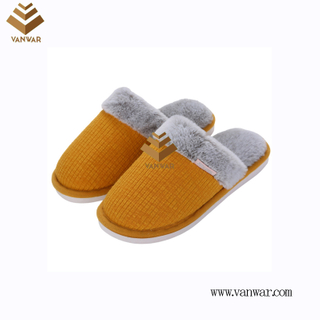 Customize Indoor Cotton lovely design Slippers with High Quality (wis041)