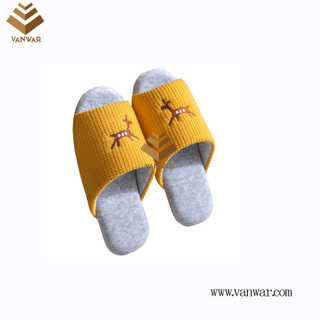 Customize Indoor Cotton winter home Slippers with High Quality (wis115)