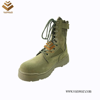 Green Military Combat Boots with High Quality (wcb080)