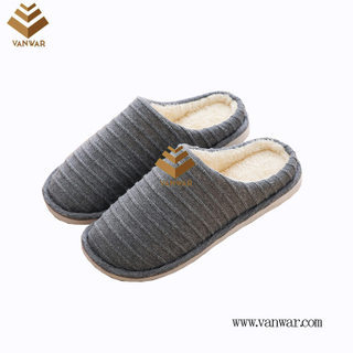 Customize Indoor Cotton lovely design Slippers with High Quality (wis032)